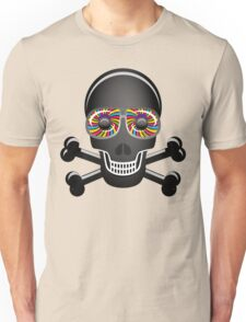 Psychedelic Skull And Crossbones Unisex T-Shirt