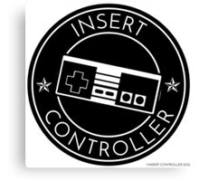 Insert Controller Badge Canvas Print