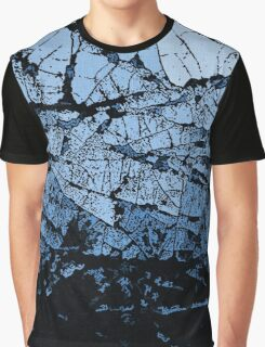 Ice Cracks, blue and black abstraction Graphic T-Shirt