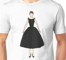Audrey Black Dress Doll Unisex T-Shirt