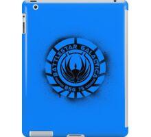Battlestar Galactica Grunge - Dark Blue Line iPad Case/Skin