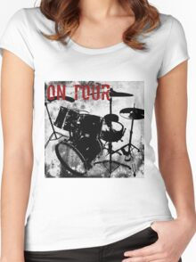 Rock-n-Roll Drums Women's Fitted Scoop T-Shirt