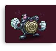 Punch-Drunk Poliwhirl Canvas Print