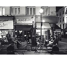 Rickshaws outside Angelucci's (Soho, London) Photographic Print