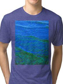 Waves Blue-Green DPG160608h Tri-blend T-Shirt