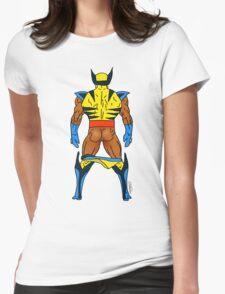 Wolf Butt (Dark) Womens Fitted T-Shirt