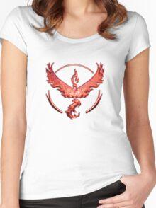 Team Valor Metallic Emblem Women's Fitted Scoop T-Shirt