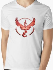 Team Valor Metallic Emblem Mens V-Neck T-Shirt