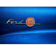 Ford F100 Photographic Print