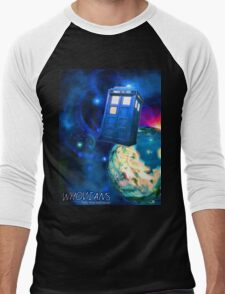 Whovians Best Facebook Group Art Dedication (07/2016) Men's Baseball ¾ T-Shirt