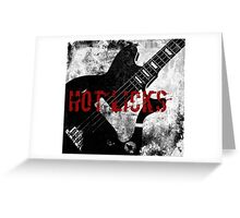 Rock-n-Roll Guitar Greeting Card
