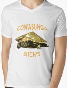 Cowabunga, bitch*s! Mens V-Neck T-Shirt