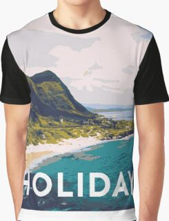 Beach holiday landscape Graphic T-Shirt