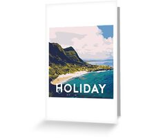 Beach holiday landscape Greeting Card