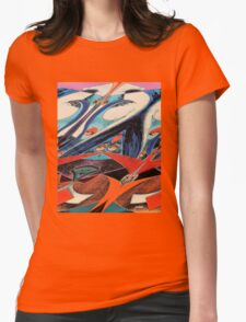 SOARING ON WINGS GRAPHIC Womens Fitted T-Shirt