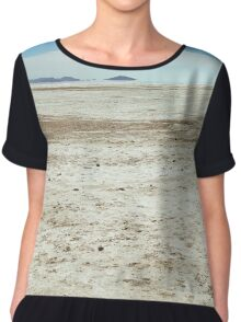 Spiral Jetty Location Dry Landscape Chiffon Top