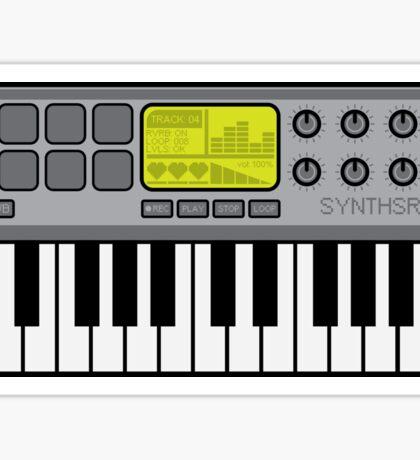 Synth Midi Controller - Retro Grey Sticker