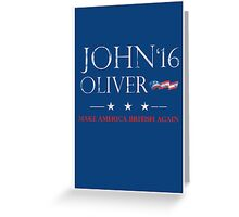 John Oliver 2016 Distressed Greeting Card