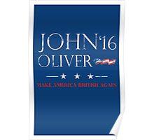 John Oliver 2016 Distressed Poster
