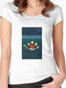 Pokemon Go Poke Ball Stars - Night time Capture Women's Fitted Scoop T-Shirt