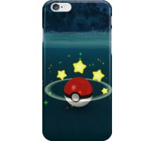 Pokemon Go Poke Ball Stars - Night time Capture iPhone Case/Skin