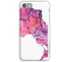 Watercolor Map of Ontario, Canada in Pink and Purple - Giclee Print of My Own Watercolor Painting iPhone Case/Skin