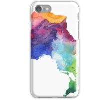 Watercolor Map of Ontario, Canada in Rainbow Colors - Giclee Print of My Own Watercolor Painting iPhone Case/Skin