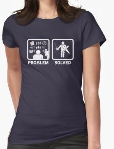 RC Radio Controlled Planes Problem Solved Womens Fitted T-Shirt