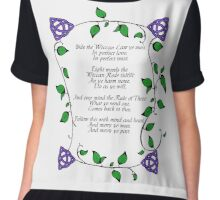 Wiccan Rede - Vines and Triquetra Chiffon Top