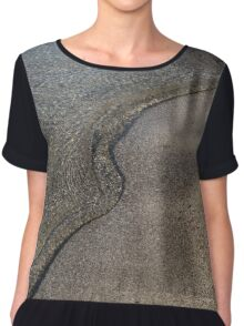 Lakeshore Tranquility - the Slowly Curling Wave Chiffon Top