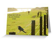 bird tales Greeting Card