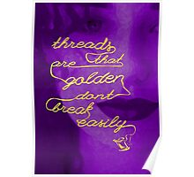 Threads That Are Golden - Purple Poster