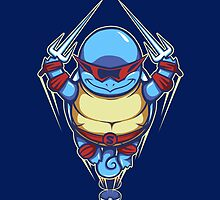 Ninja Squirtle - Ipad Case by TrulyEpic