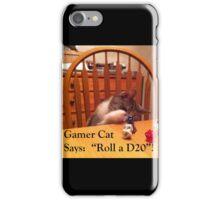 Gamer Cat Roll A D20 iPhone Case/Skin