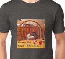 Gamer Cat Roll A D20 Unisex T-Shirt