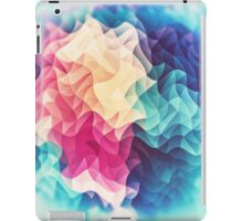 Geometry Triangle Wave Multicolor Mosaic Pattern - (HDR - Low Poly Art) iPad Case/Skin