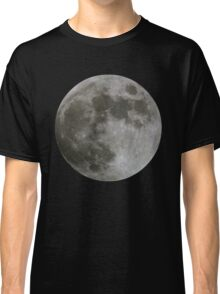 Moon on Black Classic T-Shirt