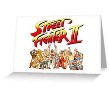 Street Fighter II Arcade Group Shot Tee  Greeting Card