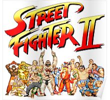 Street Fighter II Arcade Group Shot Tee  Poster