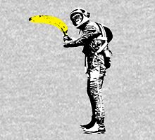 Monkey astronaut with banana Unisex T-Shirt
