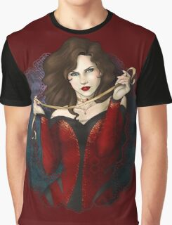Gothic Girl With Red Ribbon Graphic T-Shirt