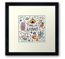 Time to travel Framed Print