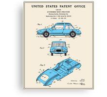 Automobile Body Patent Canvas Print