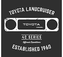 Toyota 40 Series Diesel Landcruiser Square Bezel Est. 1960 Photographic Print