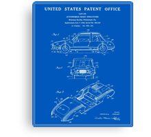Automobile Body Patent - Blueprint Canvas Print