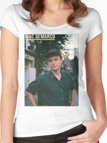 Mac Demarco zine cover Women's Fitted Scoop T-Shirt