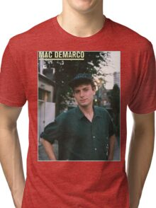 Mac Demarco zine cover Tri-blend T-Shirt