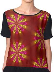 Bright and Beautiful colored flower Chiffon Top