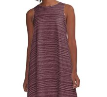 Crushed Berry Wood Grain Texture A-Line Dress