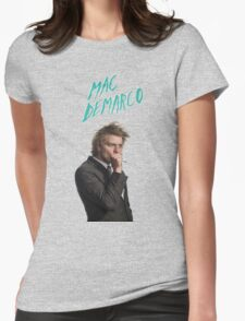 Mac DeMarco Singing  Womens Fitted T-Shirt